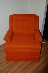 Orange Couch and Chair Set for Sale