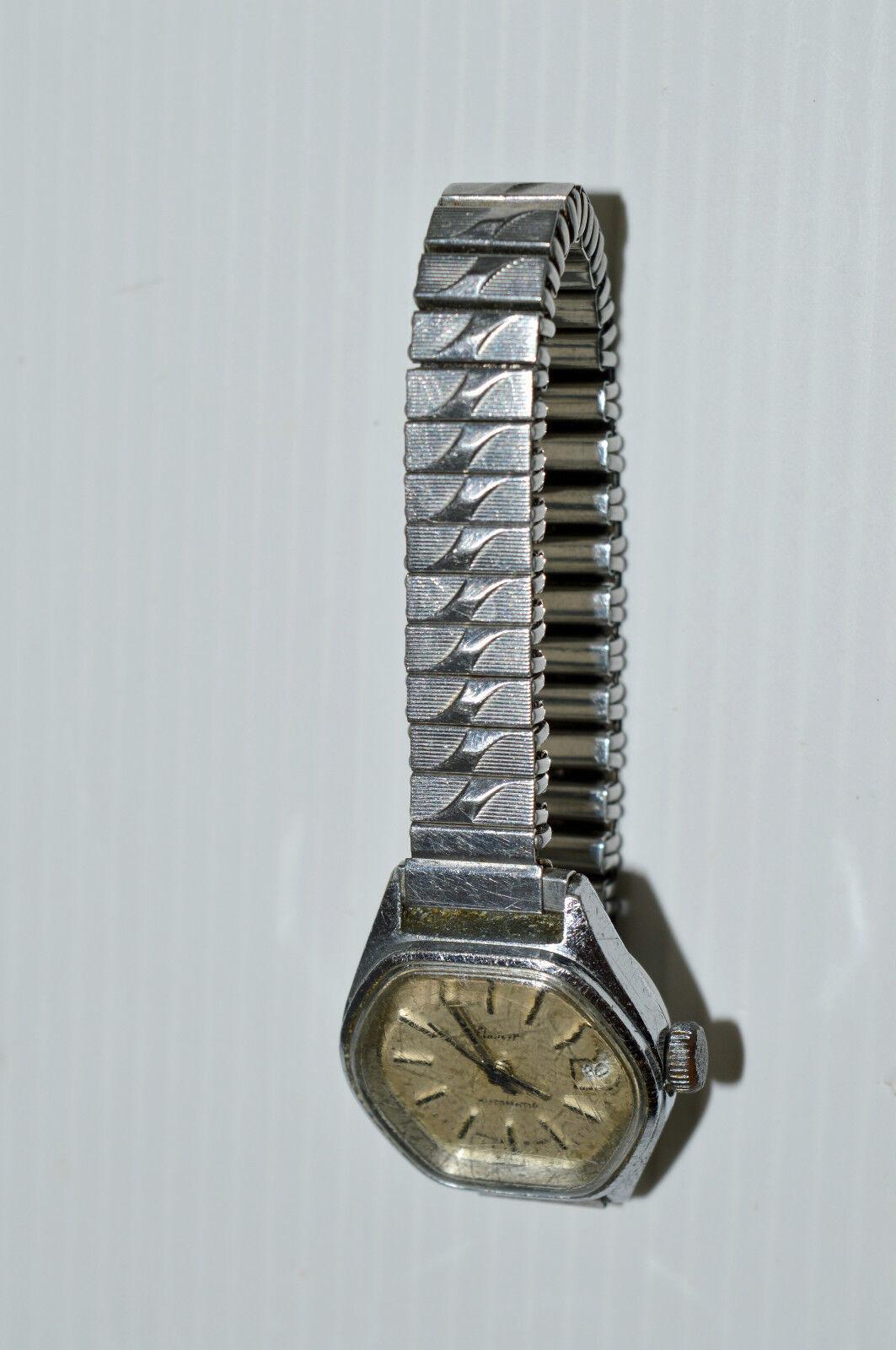 jolie ancienne montre bracelet femme flamor automatic mouvement suisse ebauche eur 25 00. Black Bedroom Furniture Sets. Home Design Ideas