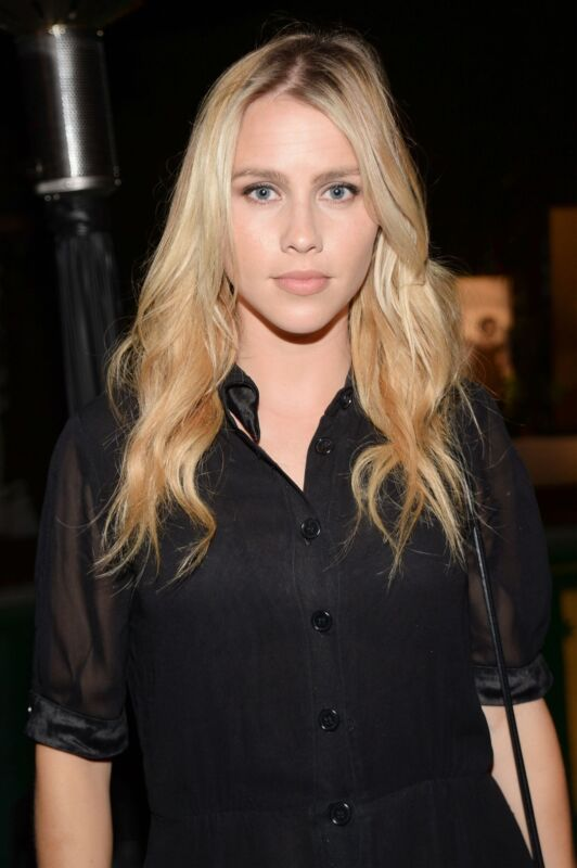 Claire Holt Blonde With Black Shirt 8x10 Photo Print