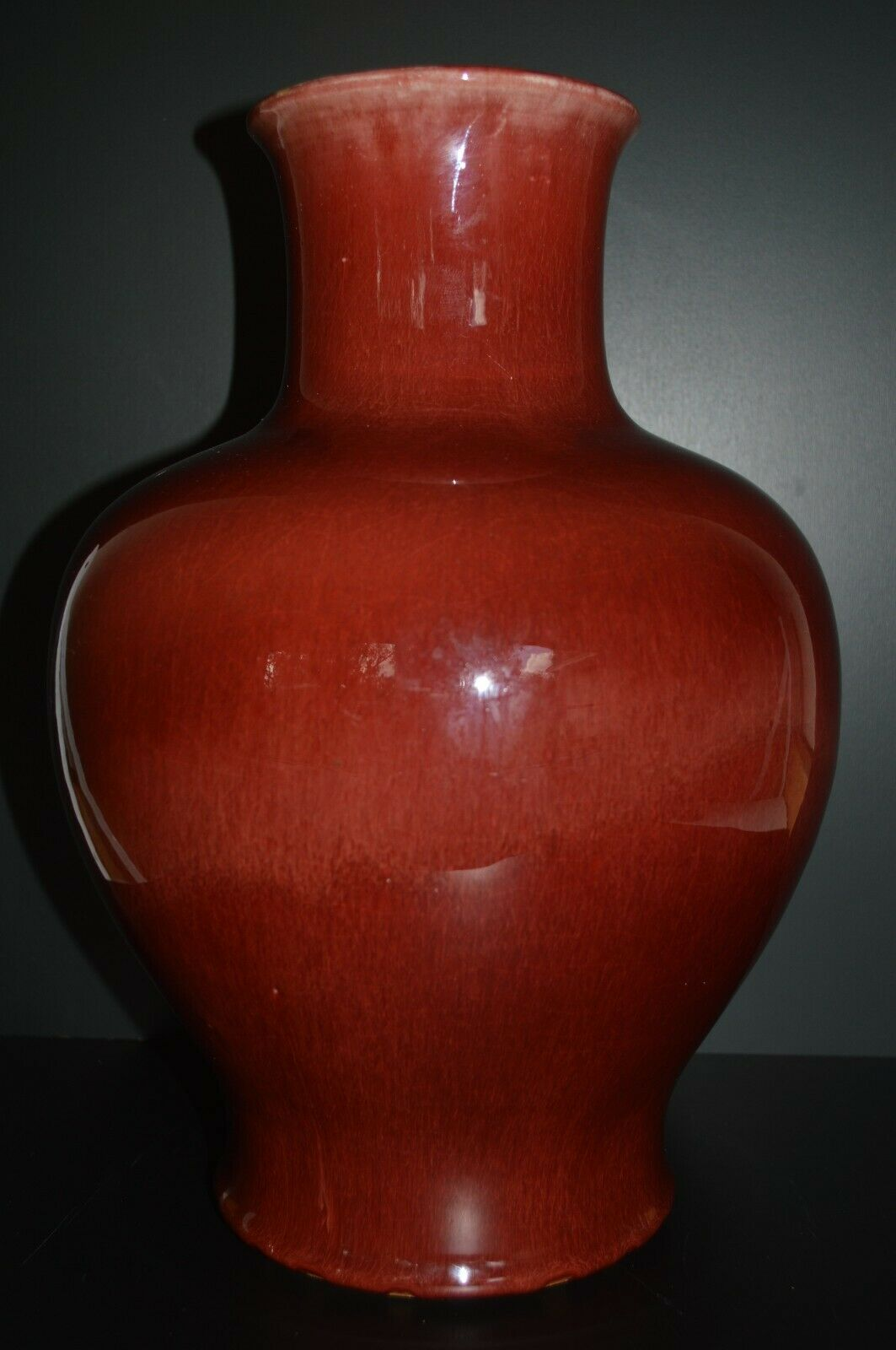 Antique Chinese Oxblood Langyao Red Globular Vase - 9th C Chinese Antique - $1,800.00