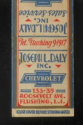 1930s Chevrolet Joseph L. Daly 133-35 Roosevelt Ave. Flushing NY Queens Co (Roosevelt Ave Flushing)