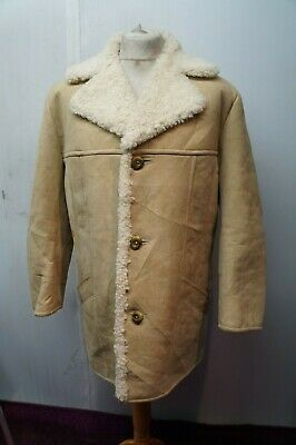 VINTAGE GENTLEMAN'S MORLANDS LAMBSKIN LEATHER COAT JACKET SIZE UK L