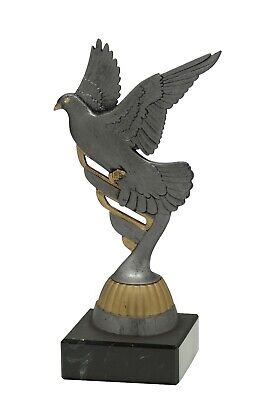 PIGEON RACER BIRD RACING TROPHY HOMING PIGEON RACE FREE ENGRAVING P441.22 B21