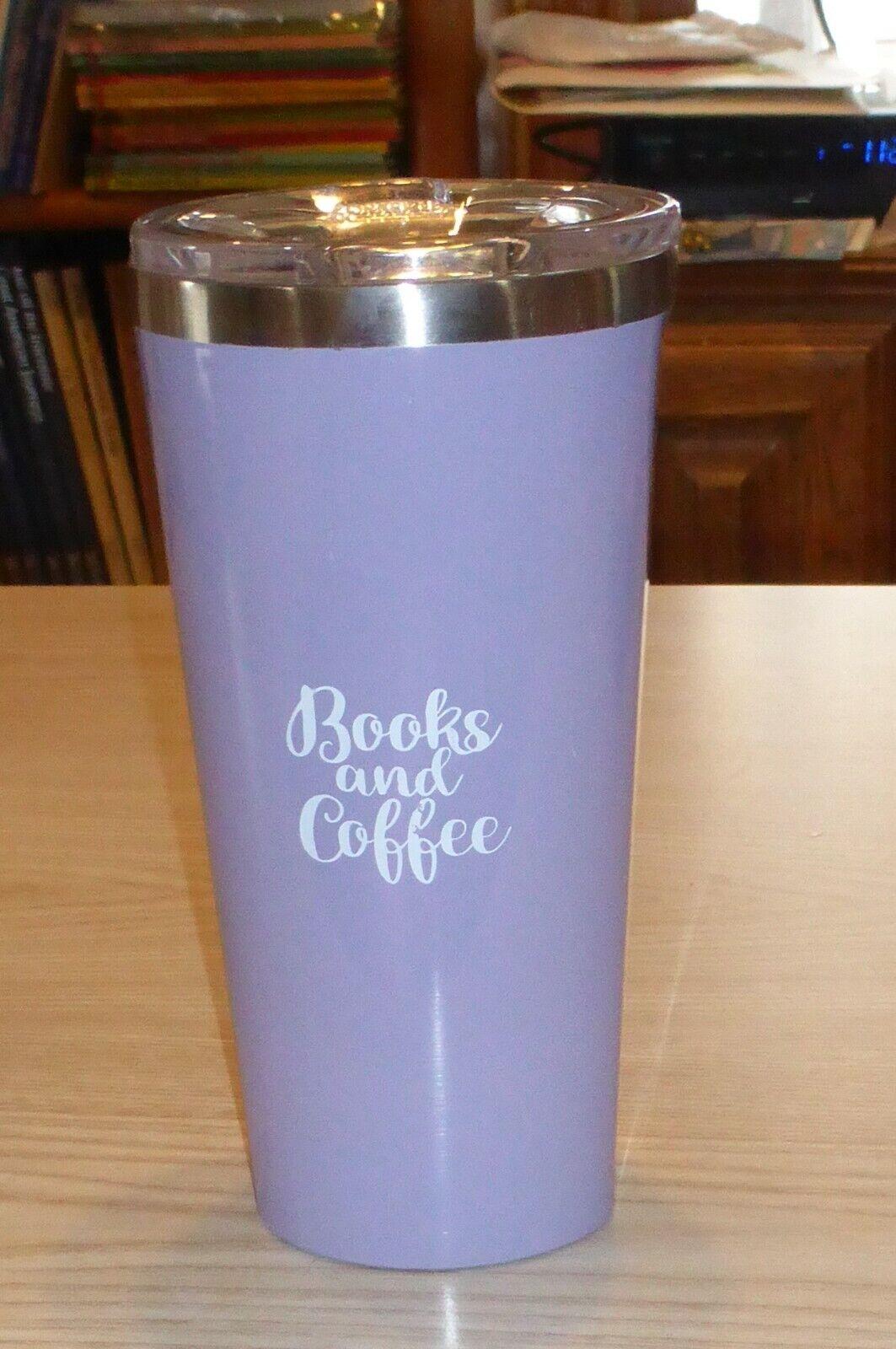 Corkcicle 16 oz Tumbler Gloss Peri Peri Darker Lavender Book