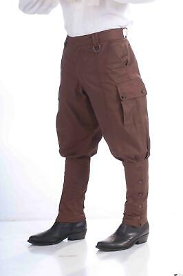 Forum Halloween Cosplay Brown Steampunk Costume Pants, Brown, One-Size