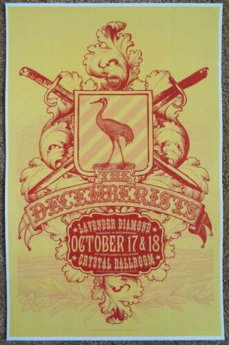 THE DECEMBERISTS 2006 Gig POSTER Portland Oregon Concert