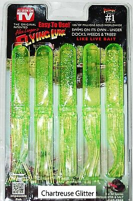 Apple Seed 5 lures+1 hook 6/'/' Alex Langer/'s Flying Lure Clam Pack