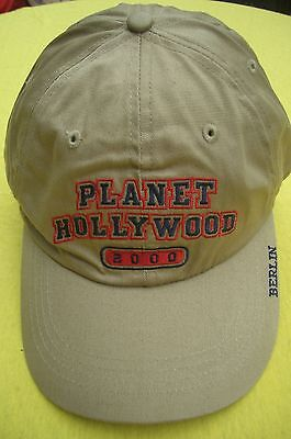 Planet Hollywood Berlin Beige Basecap 2000 NWT XL Fotos