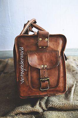 Men duffel lightweighted Leather large vintage travel gym weekend overnight bag