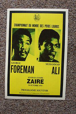 Muhammad Ali vs George Foreman Fight Poster 1974 Kinshasa Gombe Zaire