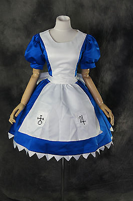 H-170 Alice Madness Maid Returns Classic Kleid Cosplay Kostüm blau Weiß Zofe