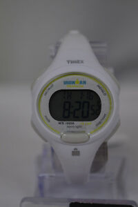 NEW Timex Women's T5K606 Ironman Essential 10 Mid-Size White Resin Strap Watch