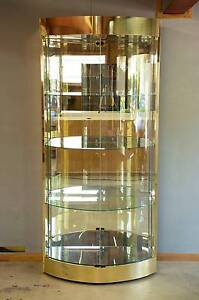 Large Luxurious Mirrored Glass Shelf Display Cabinet Cupboard Loganholme Logan Area Preview