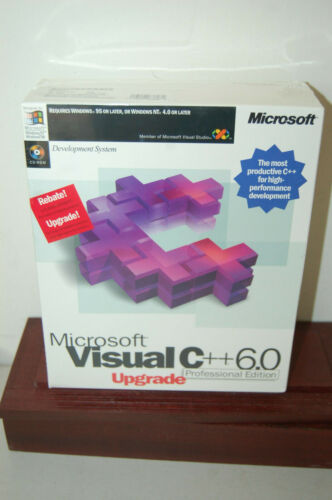 MICROSOFT VISUAL C++ 6.0 PROFESSIONAL EDITION UPGRADE NEW SEALED BOX