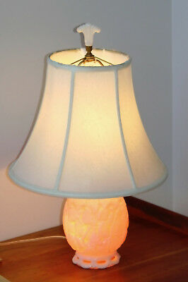 "1940's ALADDIN ALACITE Oak Leaf Acorn G-187 3 Way 20"" Table Lamp Shade & FINIAL for sale  Powell"