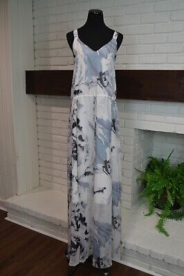 Marna Ro Watercolor Silk Maxi Dress! Beautiful! Size XS Would also fit S NWT !