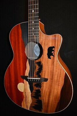 Luna Vista Bear Grand Auditorium Acoustic Electric Guitar w/HS Case - Free Ship