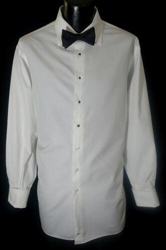 Nordstrom Tuxedo Shirt 17.5-34/35 W/Tie Studs & Cufflinks Unique Style