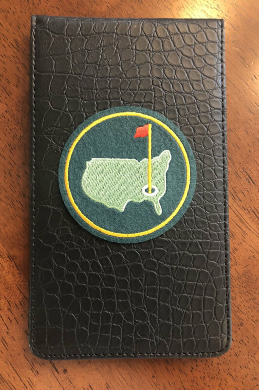 Golf Yardage Book Cover - Masters Black