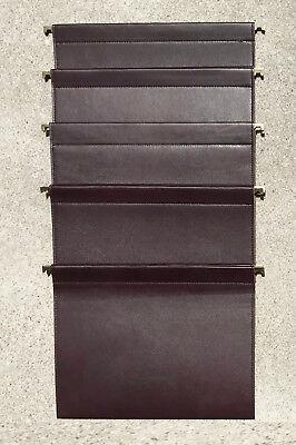 Set Of 5 Leather File Folders Custom Made By Studio Sofield.