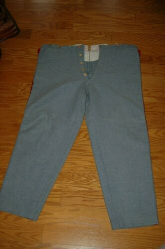 Hand-Made Richmond Depot Trousers Size 38-30 Artillery Trim -- Excellent!