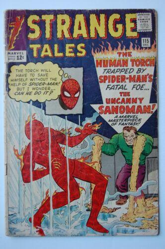 STRANGE TALES #115 | GD- | Marvel 1963 | Sandman | Origin Dr. Strange!