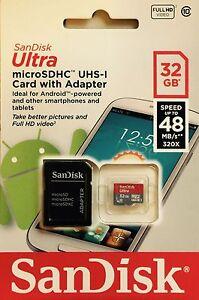 Sandisk 32GB Class 10 micro SD card SDHC GoPro Hero Camera C10 *Original* 48mb/s