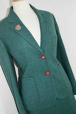 Eastex SAGE GREEN 1940's STYLE SUIT jacket skirt WW2 land girl WOOL 12 14 16