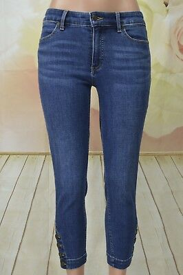 Talbots Flawless Five Pockets Petite 6 Stretch Button ankle Dark Wash (Five Button Petite Jeans)