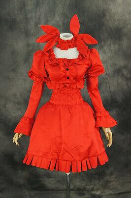 H-065 Dance in the Vampire Bund Mina Tepes Kostüm rot Gothic Lolita - Gothic Dance Kostüm