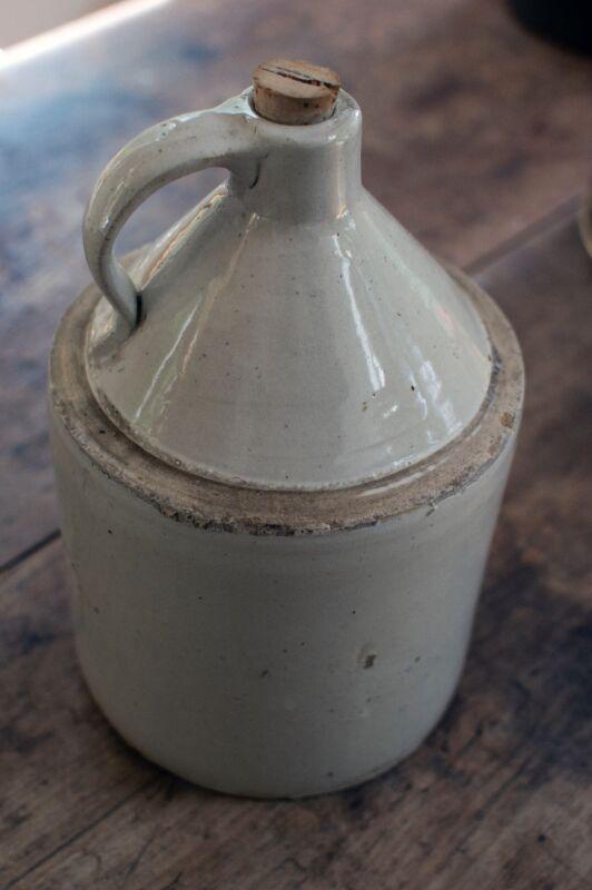 Antique Moonshine Jug with Cork