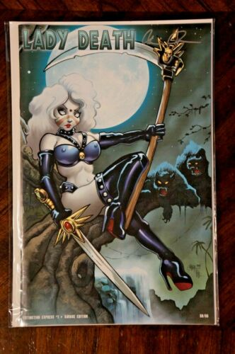 Lady Death Extinction Express #1 Savage Edition 50/66 Very Rare Signed w/ COA