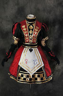 H-171 Alice Madness Returns Royal Poker Kleid Cosplay Kostüm Karneval Fasching