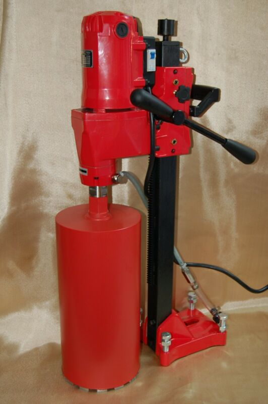 """NEW 8"""" BLUEROCK ® Tools Concrete Core Drill & Stand PLUS 2 Coring Bits up to 8"""""""