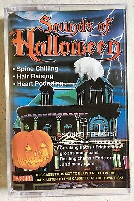 SOUNDS OF HALLOWEEN RARE VINTAGE ORIGINAL 1994 CLASSIC HOUSE OF HORRORS CASSETTE (Sounds Of Halloween)