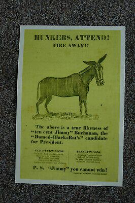 James Buchanan Attack Poster 1856 - $6.00