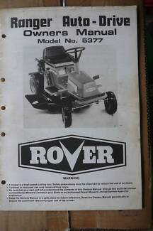 Rover Ride On and Push Mower Operating and Parts Manuals Original Tahmoor Wollondilly Area Preview