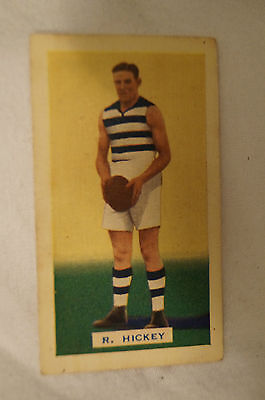 GEELONG - 1934 Hoadleys Vintage Football Card - Hall of Famer - R. Hickey.