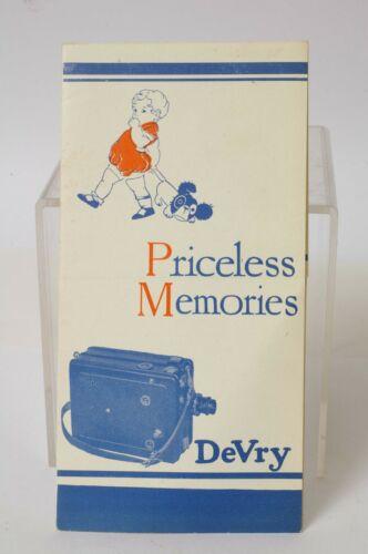 F66563~ PRICELESS MEMORIES – DEVRY MOVIE CAMERA, ETC. BROCHURE 1920's