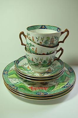 Crown Staffordshire Chinese Willow 9 Tlg Set Fine Bone China Porzellan Staffordshire Fine Bone China