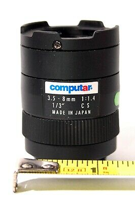 "M13VM308 1//3/"" Megapixel 3.0-8mm F1.0 CS manual iris industrial camera Lens#SS"