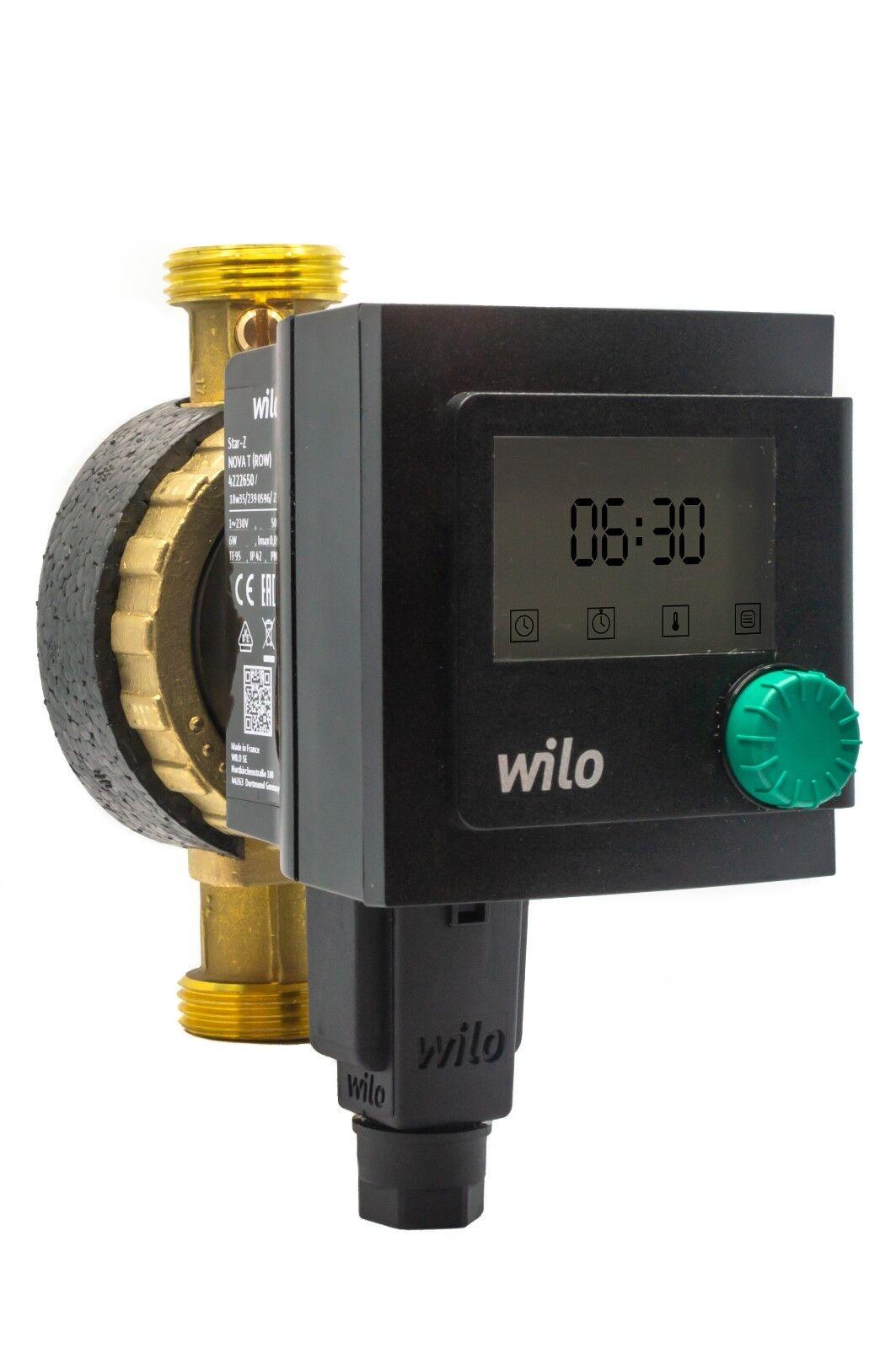 "Sperrventil Rp1//2/"" Wilo Star-Z Nova A Trinkwasser Zirkulationspumpe 230V//4,5W"