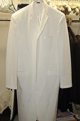 WHITE/BLACK ECKO UNLTD GANGSTER PIMP DADDY TUXEDO 40 REG BARGAIN - Buy Used Costumes