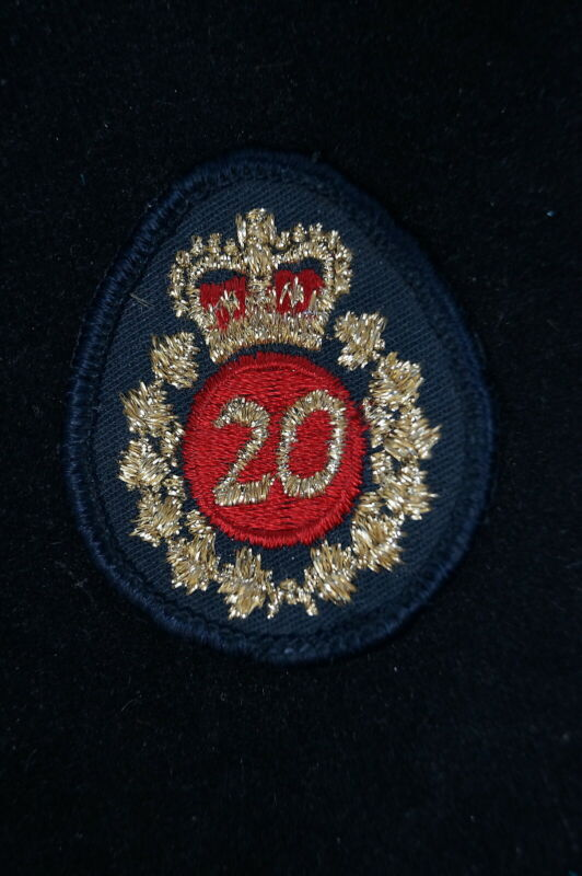 Vintage Canadian Ontario Police OPP 20 Year Service Patch