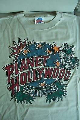 Planet Hollywood Ft Lauderdale Florida Beige Tee Size L New Neu