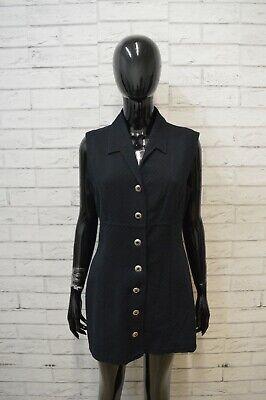 LAURA BIAGIOTTI Vestito Corto Tubino Blu Donna Taglia M Abito Dress Women's