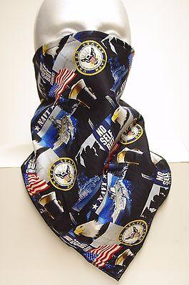- Lightweight backing Navy lined bandana motorcycle hunting face mask