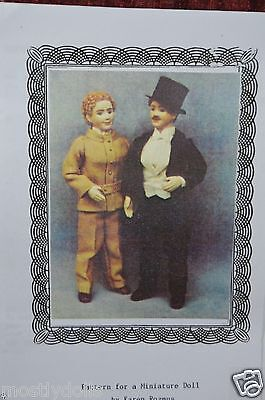 "Suit dress Pattern for Antique French German Miniature Man 6"" Doll"