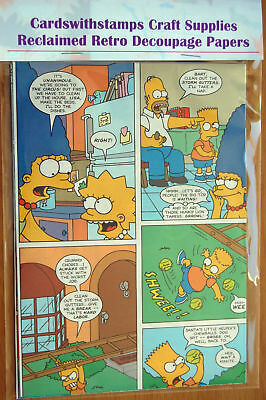 The Simpsons 25 A5 Sheets Reclaimed Retro Decoupage Craft Papers For Cardmaking