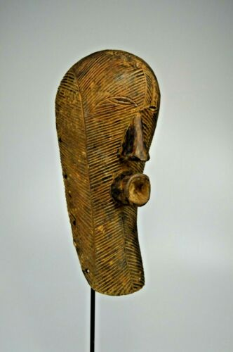 A Luba Kifwebe African Mask on custom display stand